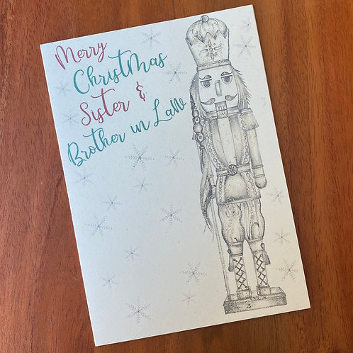 Sister & Brother In Law Christmas Card- Nutcracker
