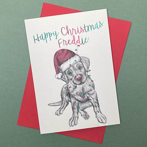 Personalised Labrador Card- Add Any Name!