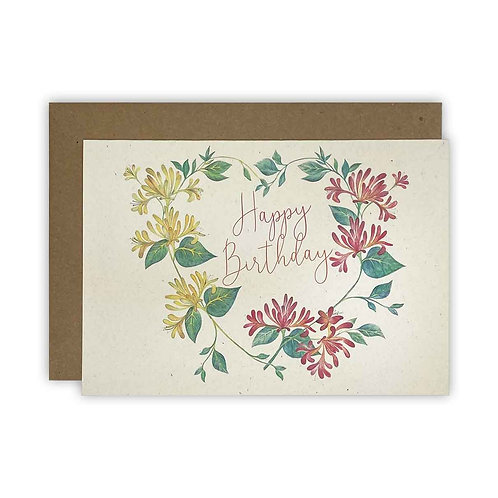 Honeysuckle Birthday Card