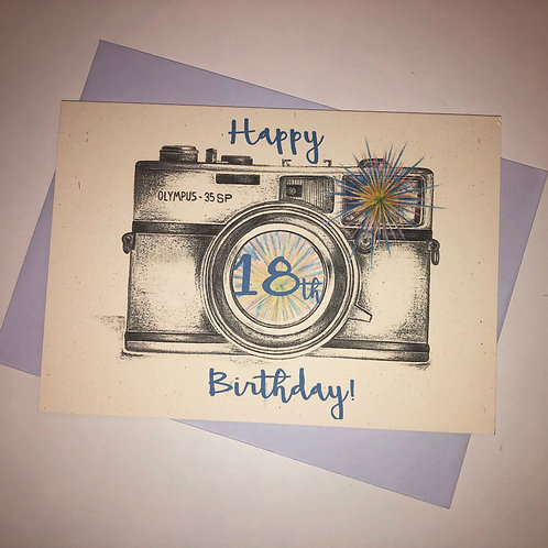 18th Birthday Camera Card