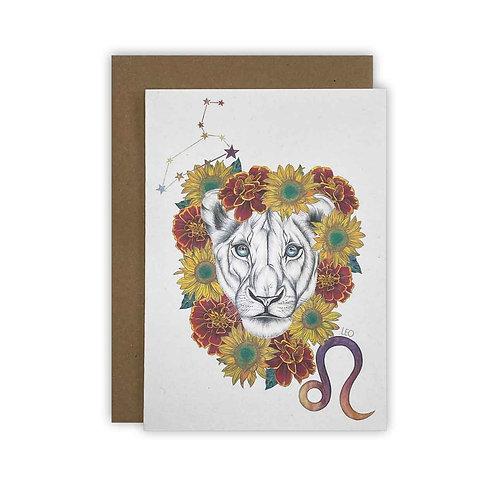 Leo Zodiac Card