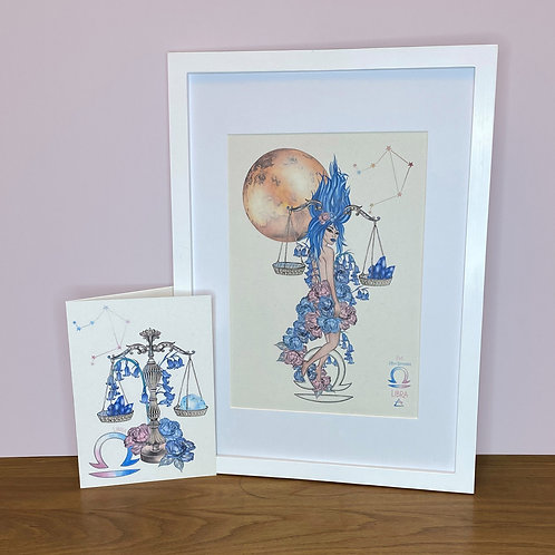 Libra Zodiac Print and Card Set