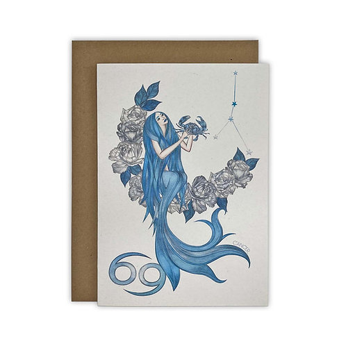 Cancer Mermaid Zodiac Card