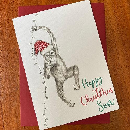 Son Christmas Card- Orangutan