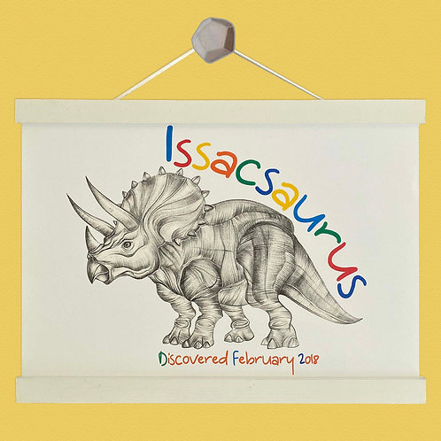 Personalised Triceratops Print