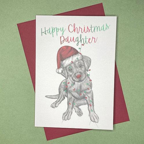 Christmas Labrador Daughter Card