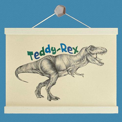 Personalised T-Rex Print