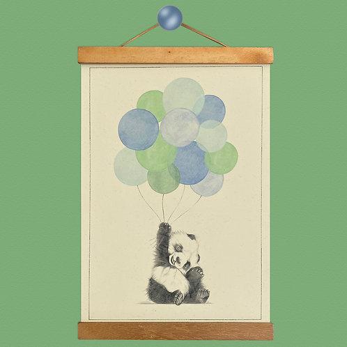Panda Balloon Print