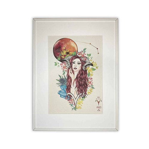 Aries Goddess Zodiac Print