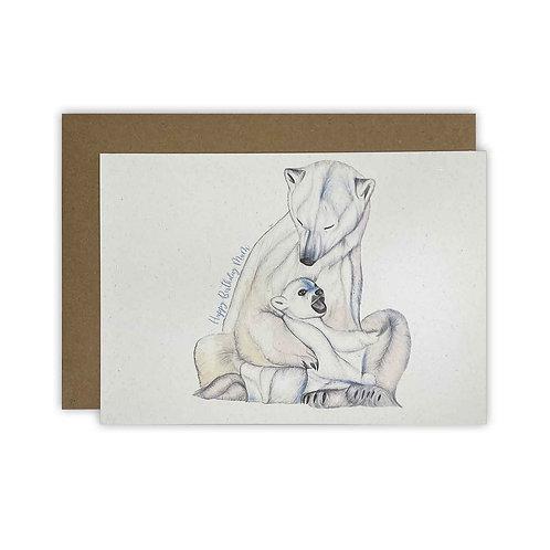Polar Bear Mum Birthday Card