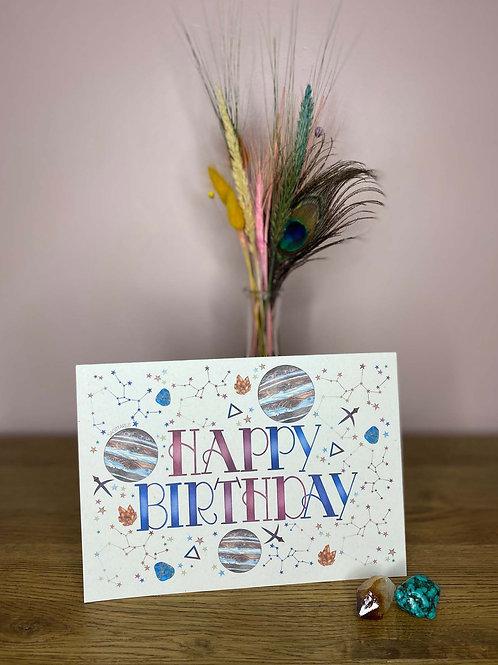 Sagittarius Zodiac Birthday Card