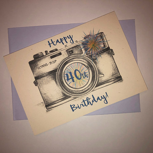 40th Birthday Camera Card