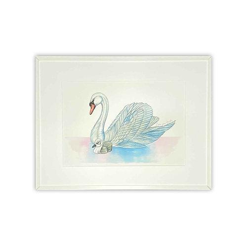 Swan & Cygnet Print