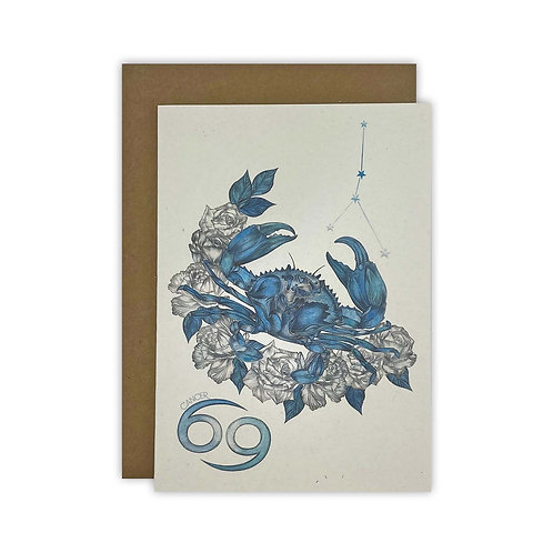 Cancer Crab Zodiac Card