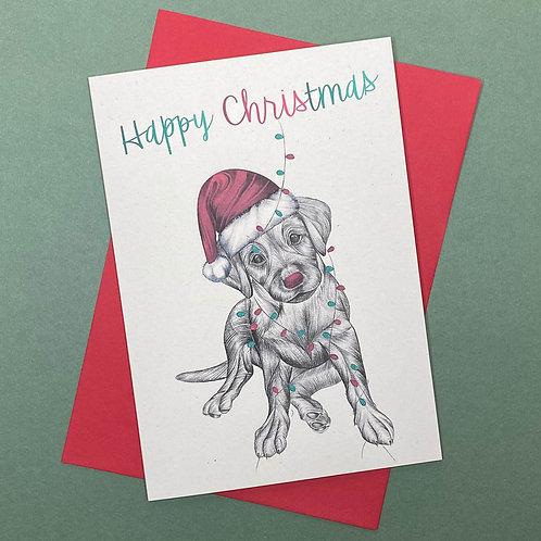 Christmas Labrador Card