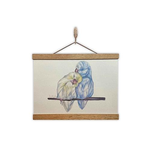 'Lovebirds' Print