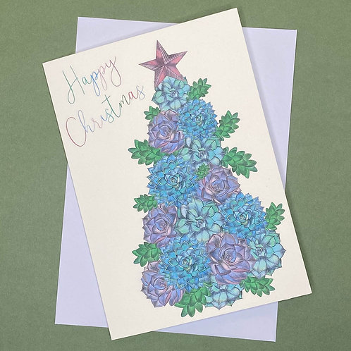 NEW! Succulent Christmas Tree Card