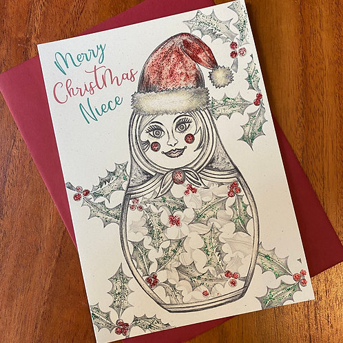 Niece Christmas Card- Russian Doll