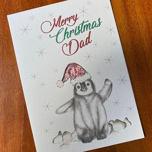 Dad Christmas Card- Penguin