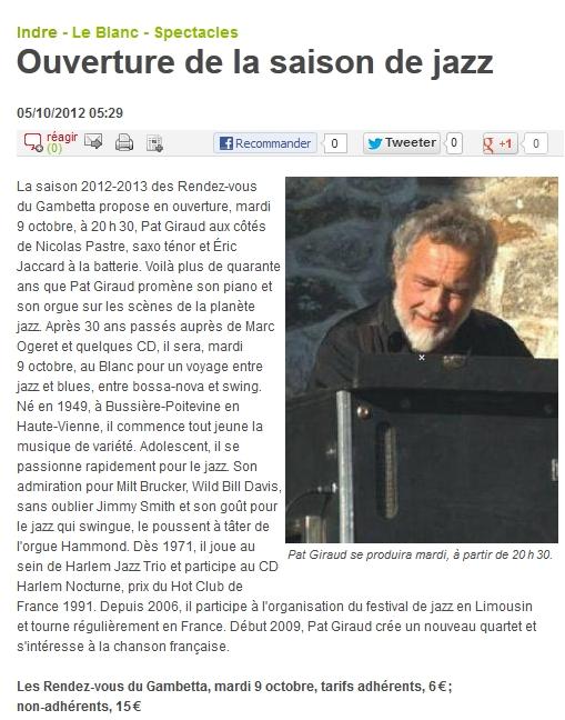 Pat Giraud au Blanc mardi 9 octobre article NR.jpg