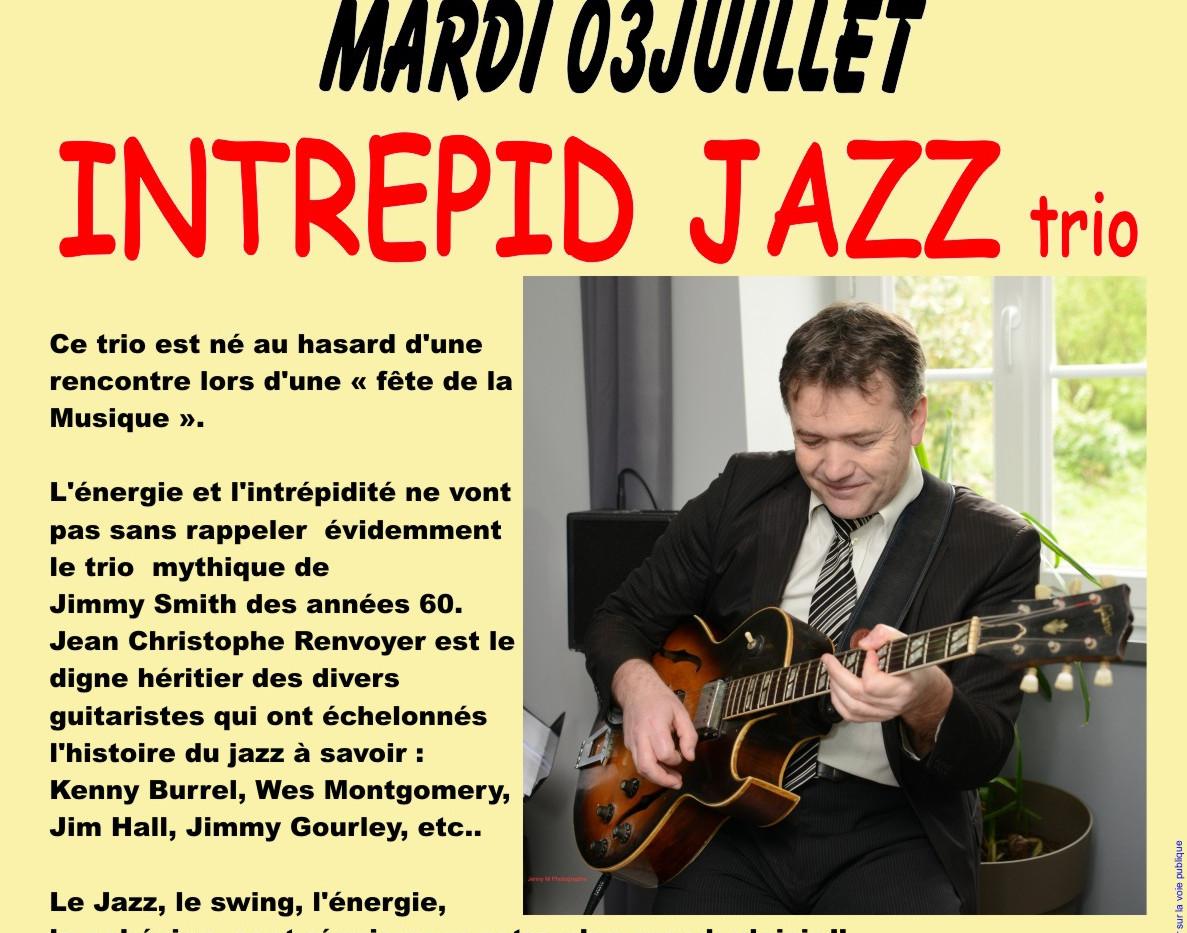 INTREPID JAZZ trio - Le Blanc - mardi 3