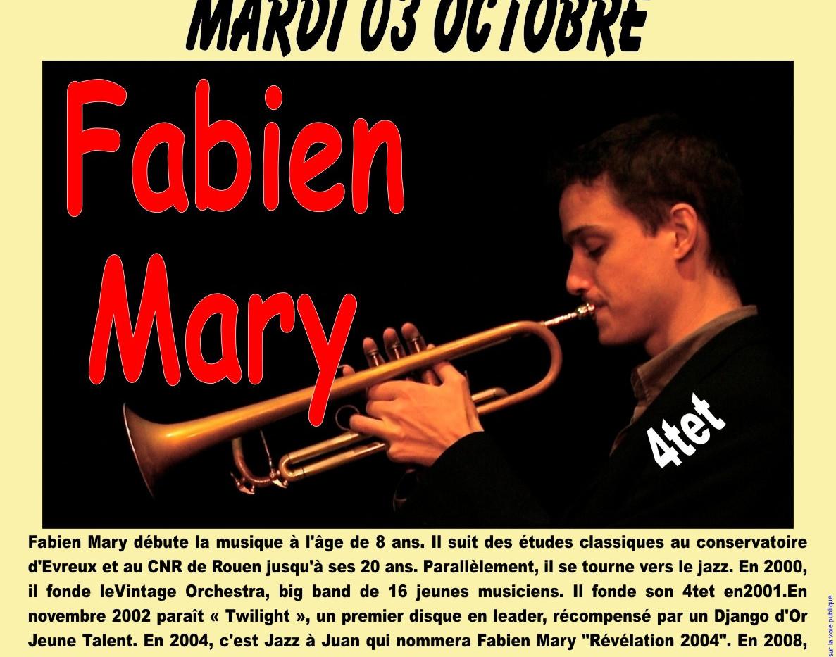 Fabien Mary - mardi 3 octobre - Le Blanc
