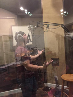 Laying Vocals at Bluecreek