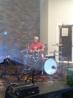 Laying Drum Tracks at Bluecreek