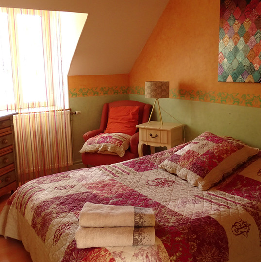 Chambre automne du Domaine de Montboulon