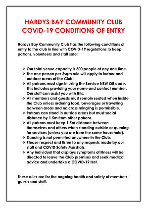 HBCC Conditions of Entry - 12 February 2