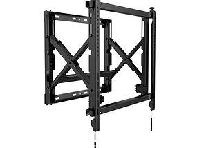 Wandhalterung Push-out System in schwarz seitliche Ansicht