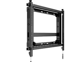 Wandhalterung Push-out System in schwarz eingeklappt