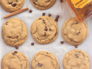 Fireball Whisky Brown Butter Chocolate Chip Cookies!