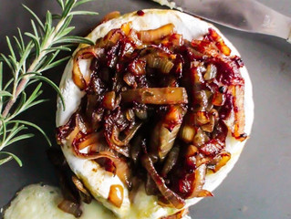 Maple Whisky Caramelized Onion Baked Brie