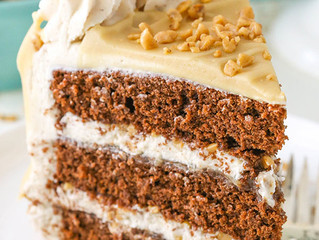 Bourbon Spice Toffee Layer Cake