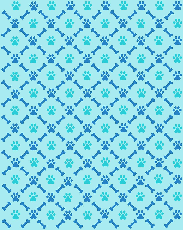 Image de fond d'écran qui montre des traces de pattes de chien et des os alternativement.