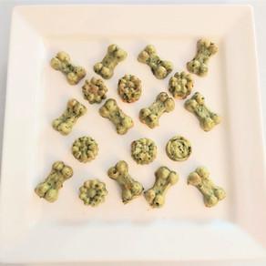 Biscuits verts pour les chiens