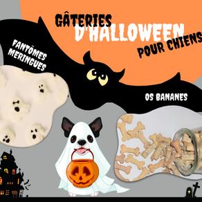 Gâteries d'Halloween pour chiens