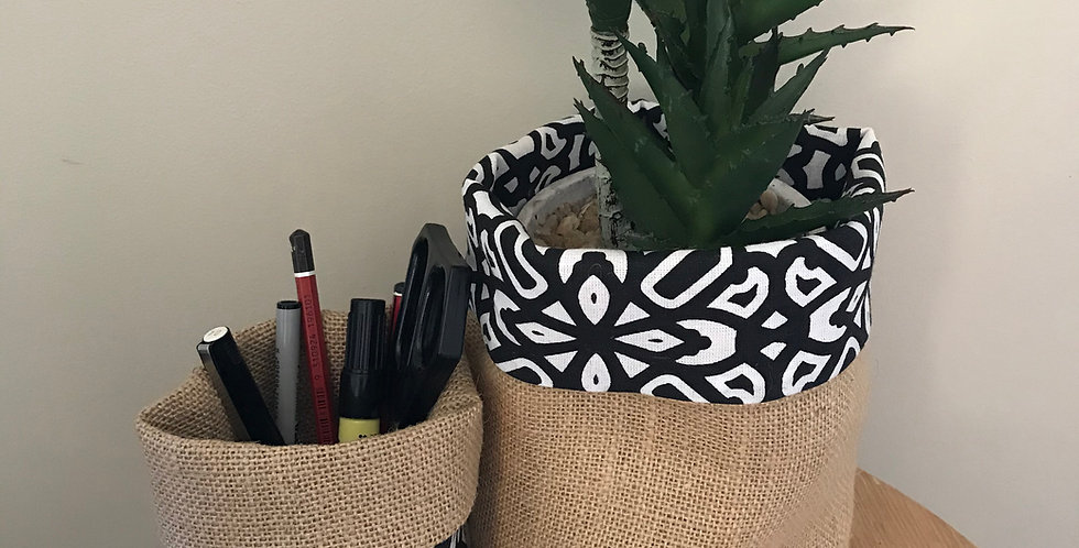 Geometric Happy Pot Cover Small