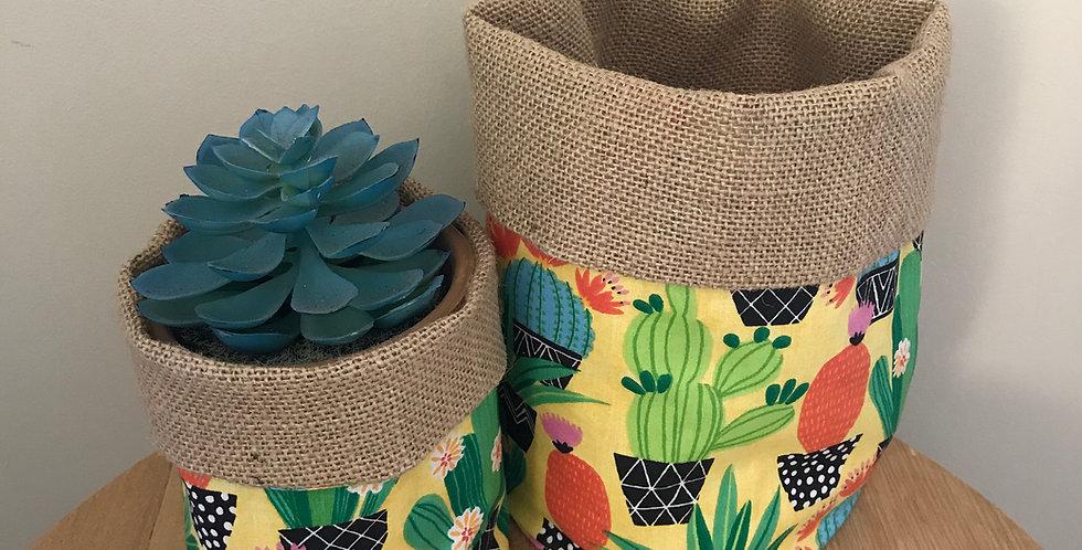 Succulent Happy Pot Cover Small