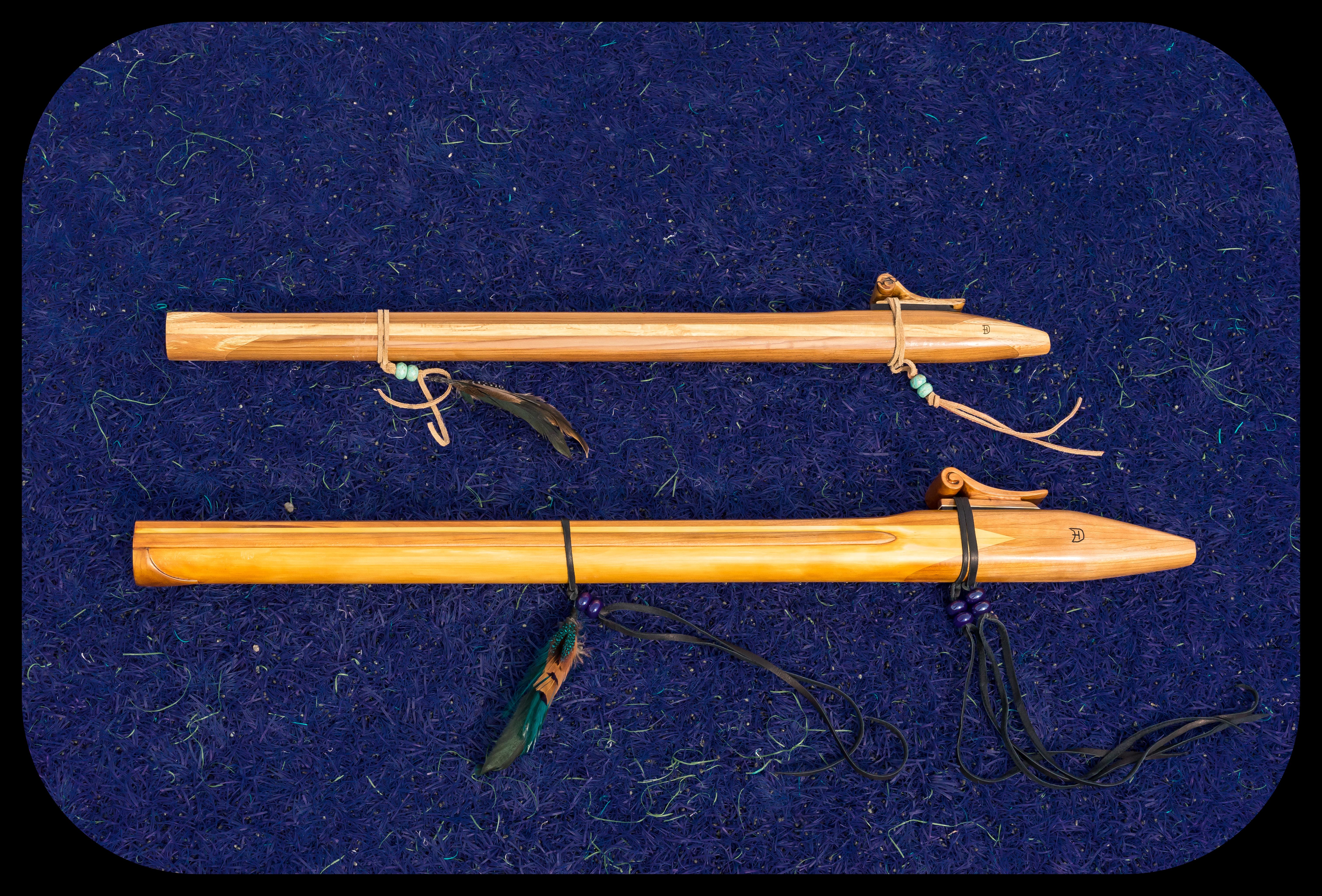 D#m Flute (top),  Bm Flute (bottom)