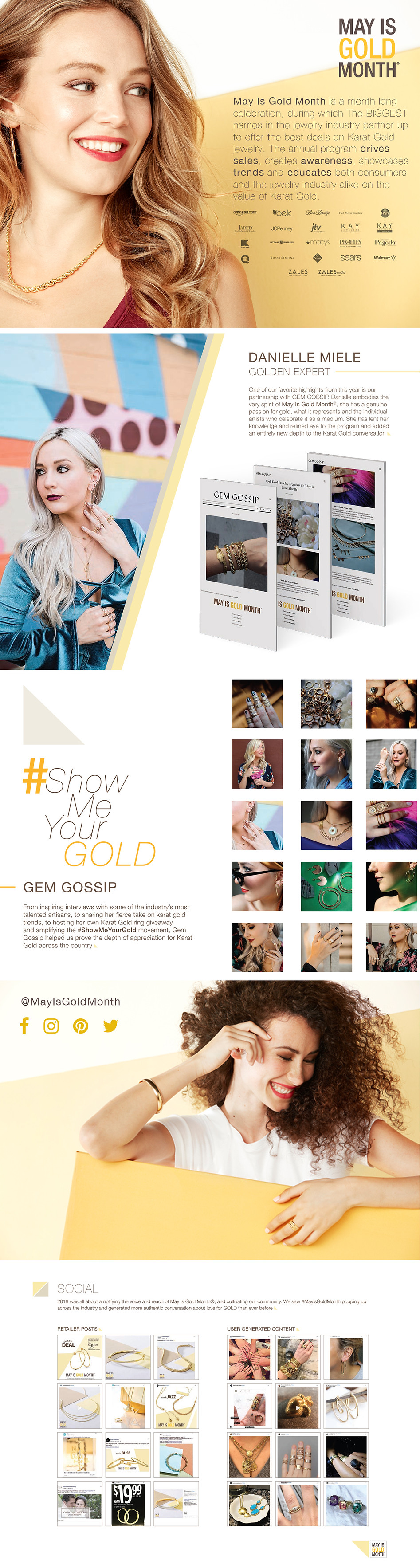 Kathleen ross may is gold month portfolio creative direction