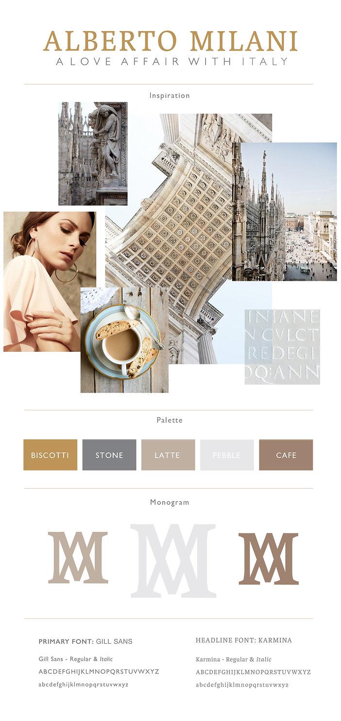 Kathleen Ross Luxury creative director image of Alberto Milani branding