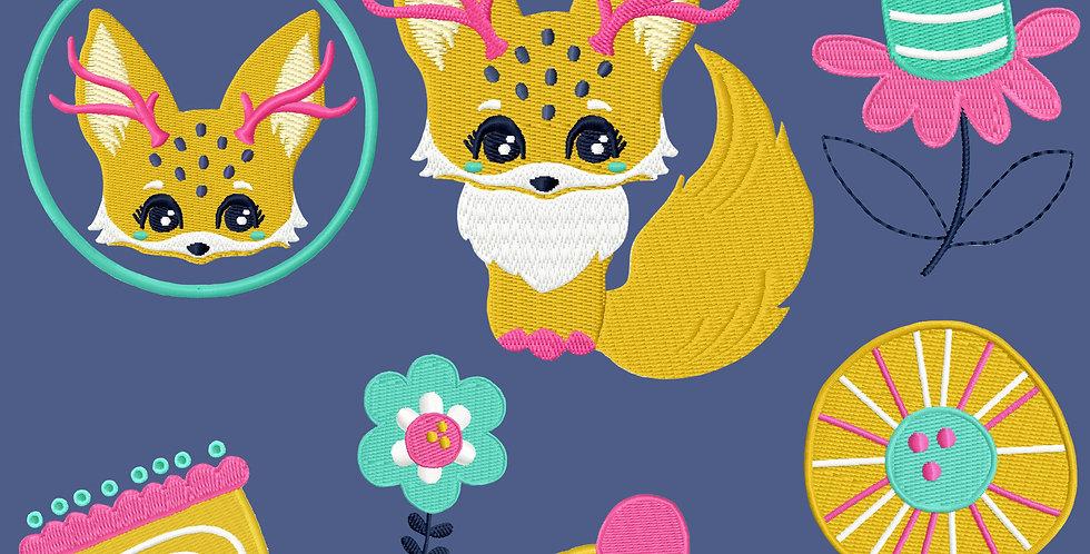 Stickdatei - Fantasy Fox Vollstick Serie