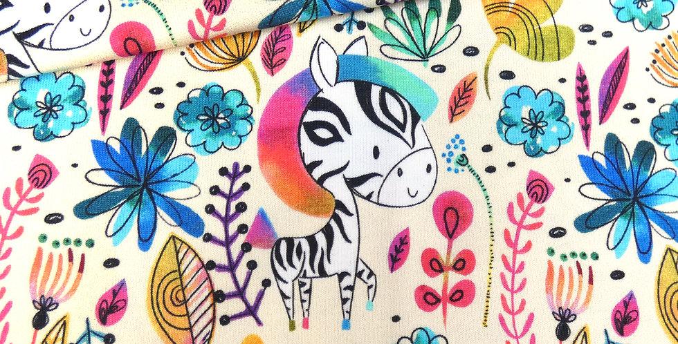 RESTSTÜCK Happy Zebra Jersey - 49 cm x VB