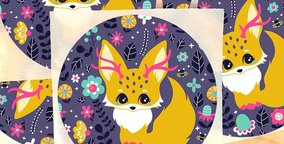 Aufkleber Fantasy Fox - 5 Stück