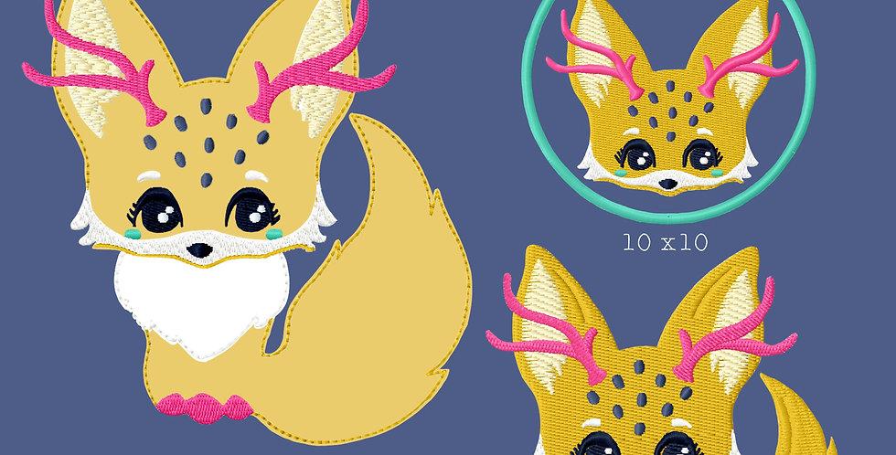 Stickdatei - Fantasy Fox - Füchse