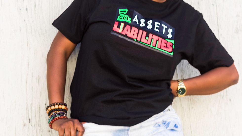 Assets Over Liabilities T-Shirt - Black