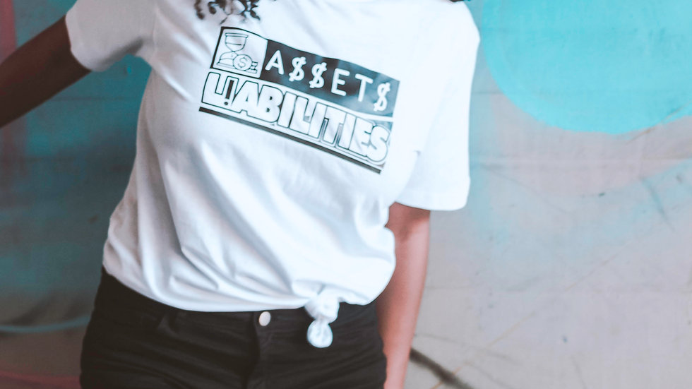 Assets Over Liabilities T-Shirt - White