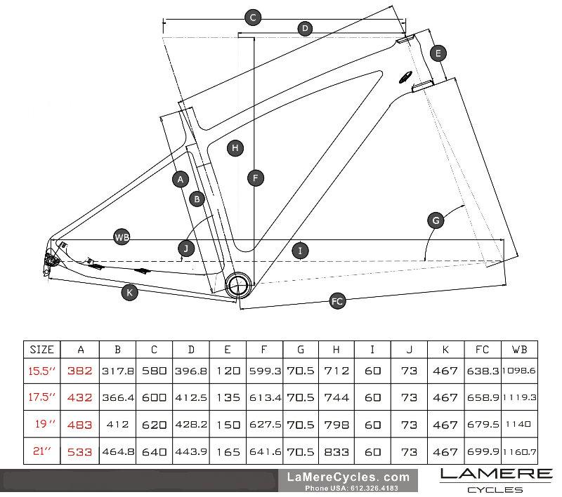 LaMere V1 170/177 fatbike geometry